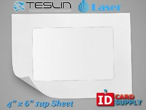 Teslin Synthetic Paper 4 X 6 Perforated 1 up Laser Sheet