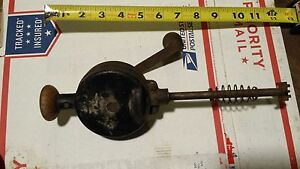 Pair Of Vintage Hand Crank Valve Lapping Tools