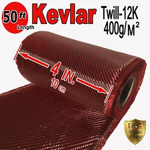 4 In X 50 Ft Fabric Made With Kevlar carbon Fiber Fabric Twill 3k 200g m2