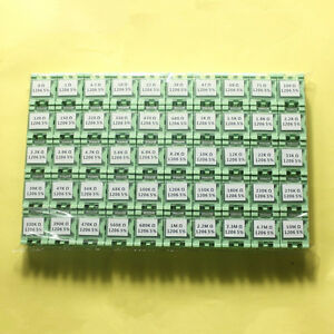 50 Value 1206 3 2 1 6mm Smd Assorted Resistor Box Kit 1 4w 5 5000pcs