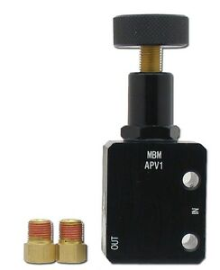 Mbm Adjustable Brake Proportioning Valve W Black Dial Hot Street Rod Chevy Ford