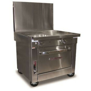 Southbend P36d ff Heavy Duty Gas Range W French Hot Tops