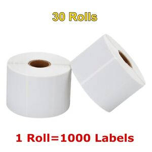 30 Roll 2 25 X 1 25 Direct Thermal Barcode Label 1000 roll Zebra Lp2824 Lp2844