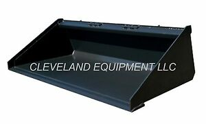 New 60 Low Profile Long Bottom Bucket Skid Steer Loader Tractor Attachment 5