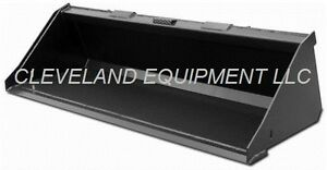 New 72 74 Low Profile Bucket Skid Steer Loader Attachment Doosan Bobcat Terex