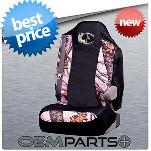 1 New Pink Mossy Oak Seat Cover With Integrated Belts Arm Rest Camo Camouflage