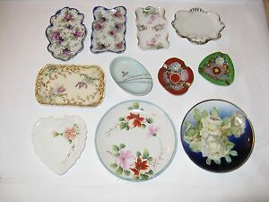 Collection Of 11 Antique China Tea Plates
