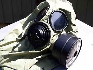 Military 40mm Nato Gas Mask W drink Port Hood Pouch Nbc cbrn Filter Exp 2022