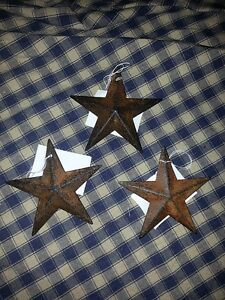 Set Of 12 Primitive Rusty 3 5 Barn Stars Decorate Craft Ornaments Rustic