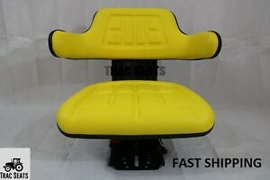Yellow John Deere 1830 1840 2020 2030 Trac Universal Tractor Suspension Seat