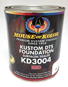 House Of Kolor Dts Foundation Primer Surfacer sealer red Quart