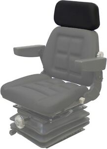 Black Vinyl Headrest For Pilot Seat P81a48v1 5 7 8 From Middle Of Rod To Rod