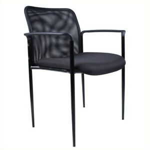 Boss Office Products Contemporary Stacking Guest Arm Stacking Guest Chair In