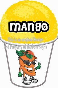 Mango Decal 7 Shave Shaved Ice Sno Cone Italian Ice Concession Food Truck