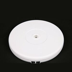 360 Electric Motorized Display Stand Rotating Turntable 25cm For Jewelry Watch