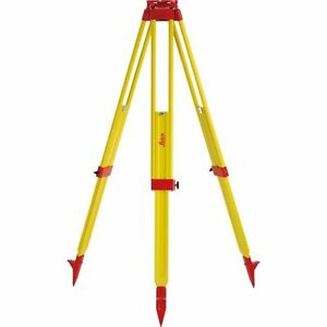 Leica Gst20 9 Wooden Tripod For Total Station Theodolite Level Laser T
