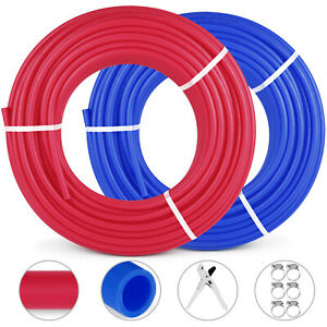 2 Rolls 1 2 300ft Pex Tubing Pipe Non barrier Floor Heat Pex Pipe Red Blue