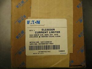 New Eaton Current Limiter Elc3030r
