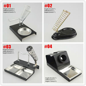 1x Soldering Iron Gun Stand Holder Support Station Metal Base And Sponge
