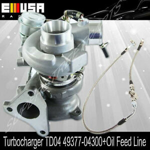 Turbotd04 Feed Line For 04 08 Subaru Forester Xt Models 49377 04300 14412aa451