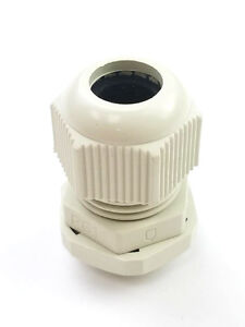 100 Pieces Pg19 White Waterproof Connector Gland 12 15mm Dia Cable