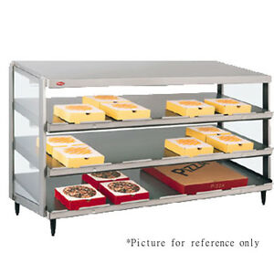 Hatco Grpws 4818t Countertop Pass thru Pizza Warmer With Triple Slant Shelves