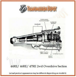 44re 46re 47re A500 A518 Remanufactured Dodge Overdrive Section 2wd Only