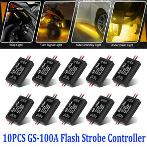 Gs 100a Flash Strobe Controller Flasher Module For Led Brake Tail Stop Light New