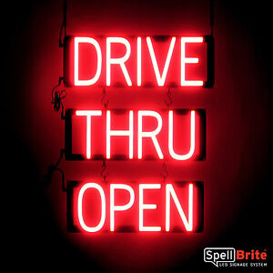 Spellbrite Ultra bright Drive Thru Open Sign Neon led Sign