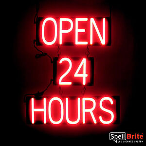 Spellbrite Ultra bright Open 24 Hours Sign Neon led Sign neon Look Led Power