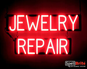 Spellbrite Ultra bright Jewelry Repair Sign Neon led Sign neon Look Led Power