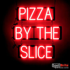 Spellbrite Ultra bright Pizza By The Slice Sign Neon led Sign neon Look