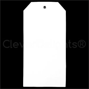 200 White Plastic Tags 6 25 X 3 125 Tearproof Inventory Id Price Tags