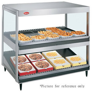 Hatco Grsds h 36d Pass Thru Display Warmer With 1 Horizontal And 1 Slanted Shelf