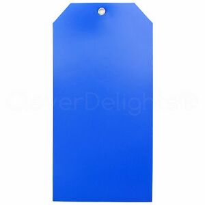 200 Blue Plastic Tags 6 25 X 3 125 Tearproof Inventory Id Price Tags