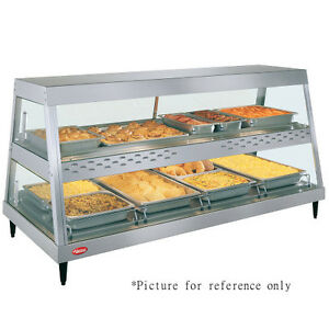 Hatco Grhdh 4pd Dual Countertop Heated Display Case With 6 Qt Humidity Capacity