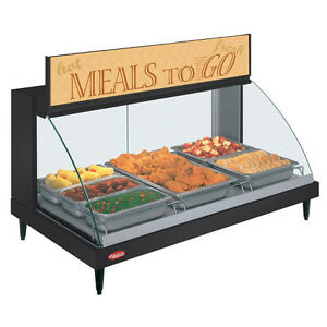 Hatco Grcd 3p Countertop Heated Display With Curved Glass And 3 Pan Single Shelf