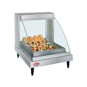 Hatco Grcdh 1p Humidified Countertop Heated Display With Curved Glass