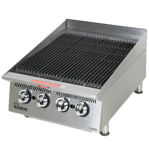 Star 8124rcbb 24 Countertop Gas Charbroiler W Steel Alloy Radiants