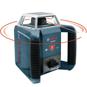 Bosch Grl400h Self leveling 635nm Class 2 Rotary Laser W Receiver New