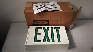Hubbell Led2ac 2 Sided Lighted Exit Sign