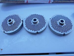 3 Pcs Kasco Meat Grinder Plate Part No 3248 3 15 16 O d 1 2 Bore used