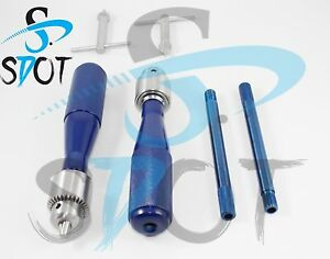 Hand Drill 2 Pcs New Set Orthopedics Instruments