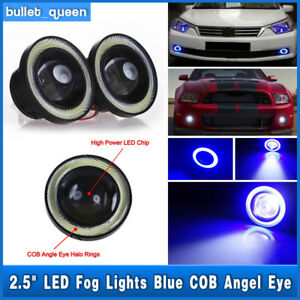 High Power Led Projector Fog Light W Blue Cob Halo Angel Eye Ring For Nissan Us
