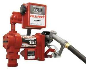 Fill rite Fr1211g 15gpm 1 4hp 12 Vdc Fuel Transfer Pump With Hose Nozzle And