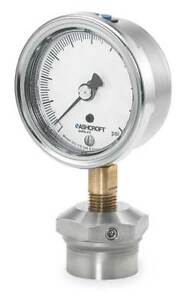 Pressure Gauge 0 To 60 Psi 2 1 2in 1 4in Ashcroft 251009aw02l 310sslxcg60