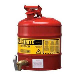 Type I Faucet Safety Can 5 Gal red Justrite 7150150