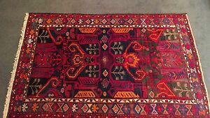 4x7 Persian Oriental Zanjan Hand Knotted Tribal Brown Red Wool Area Rug Carpet
