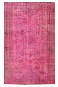 Pink Overdyed Rugs Area Rug Old Carpet Rug Handwoven Vintage Carpet