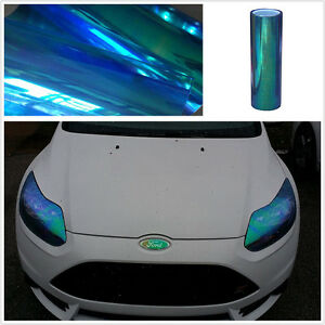 Car Suv Headlight Tailight Tint Vinyl Film Cover 12 x78 Chameleon Colorful Blue